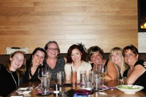 Karen, Beth, Heather, Ginger, Frauke, Joy, Lisa