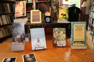 The Table at the VCFA Bookstore